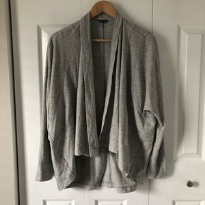Eddie Bauer Open Front Long Sleeved Gray Cardigan